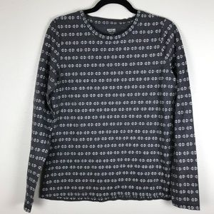 3/$20 Mossimo Printed Long Sleeve Top Size L